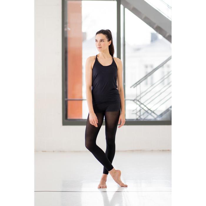 Legging voor moderne dans dames zwart naadloos