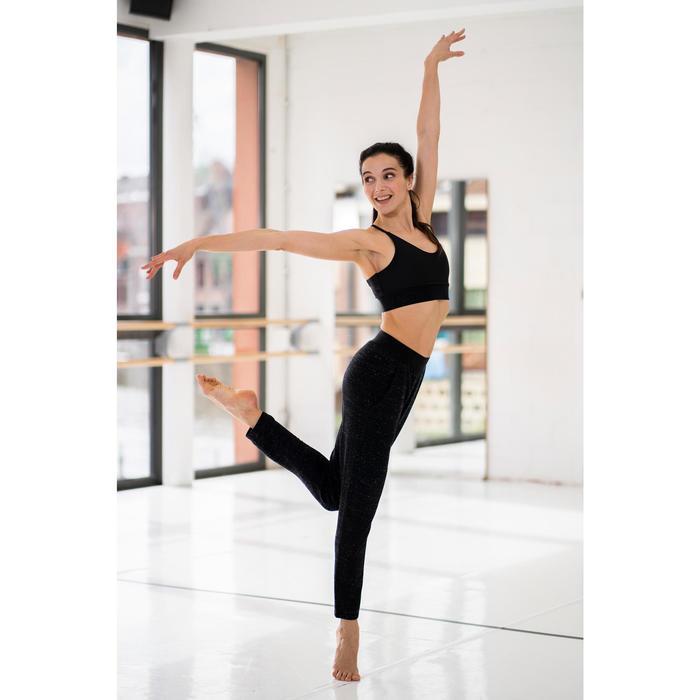 Pantalon danse moderne noir carott femme