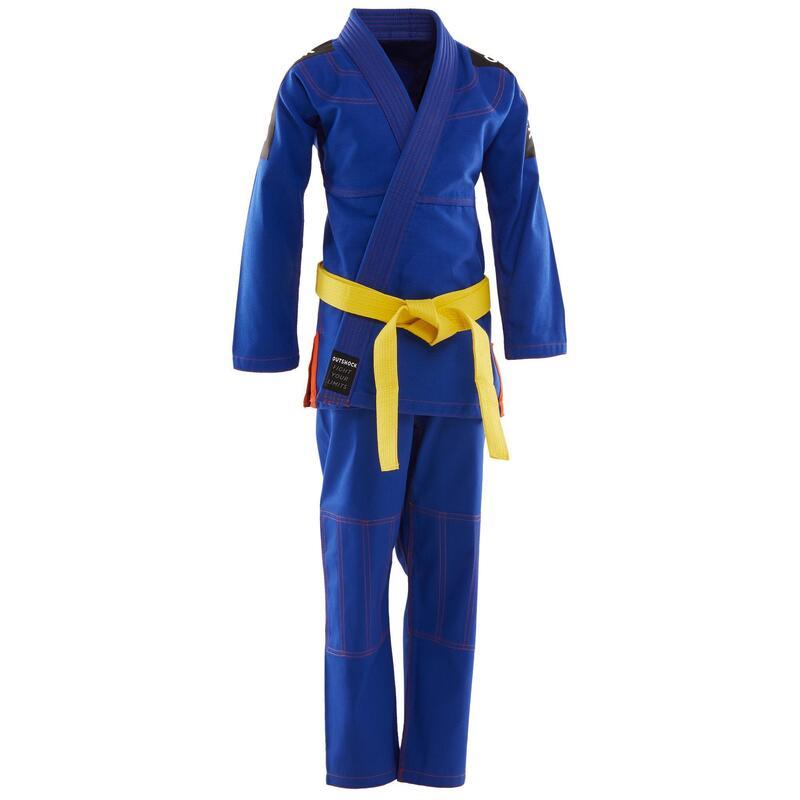 Kimono jiu-jitsu brazilian 500 Albastru Copii