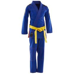 Kampfsportanzug Brazilian Jiu-Jitsu 500 Kinder blau