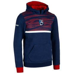 Rugbyhoodie voor kinderen Frankrijk 2019 blauw
