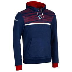 Kapuzen-Hoodie Rugby Frankreich 2019 Herren blau