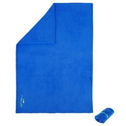 柔軟微纖維毛巾,M號 - 藍色