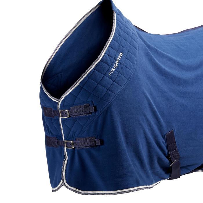 Manta Ligera Cuadra Equitación Fouganza POLAR 500 Azul Caballo y Poni