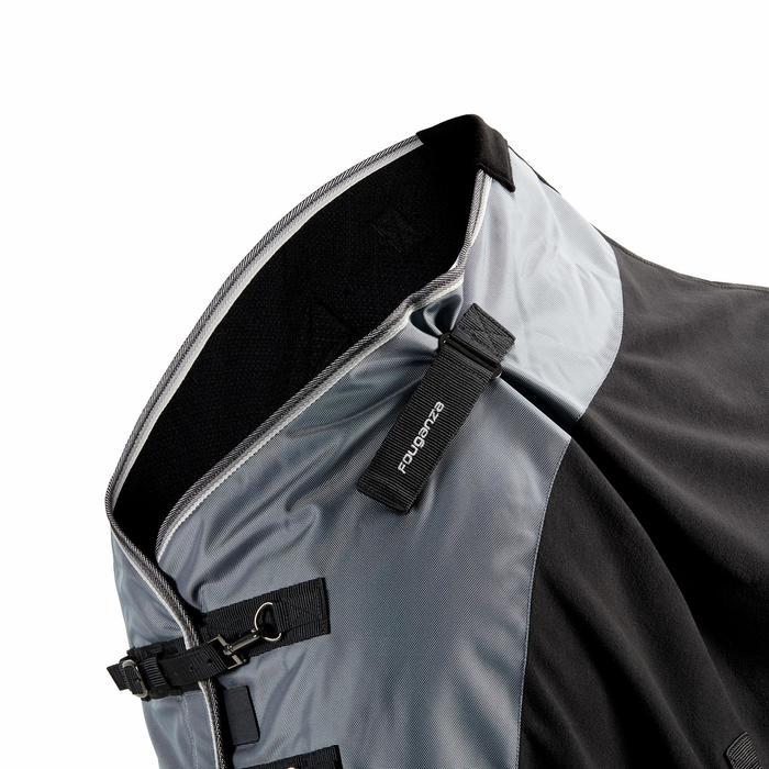 Manta ligera de cuadra equitación caballo y poni POLAR PERF negro