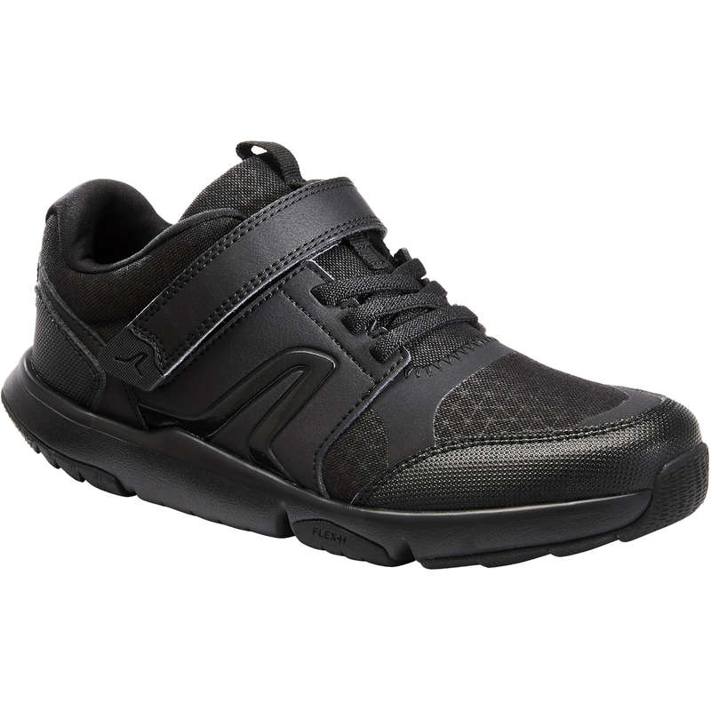 JUNIOR SPORT WALKING SHOES Hiking - Actiwalk - Black NEWFEEL - Outdoor Shoes