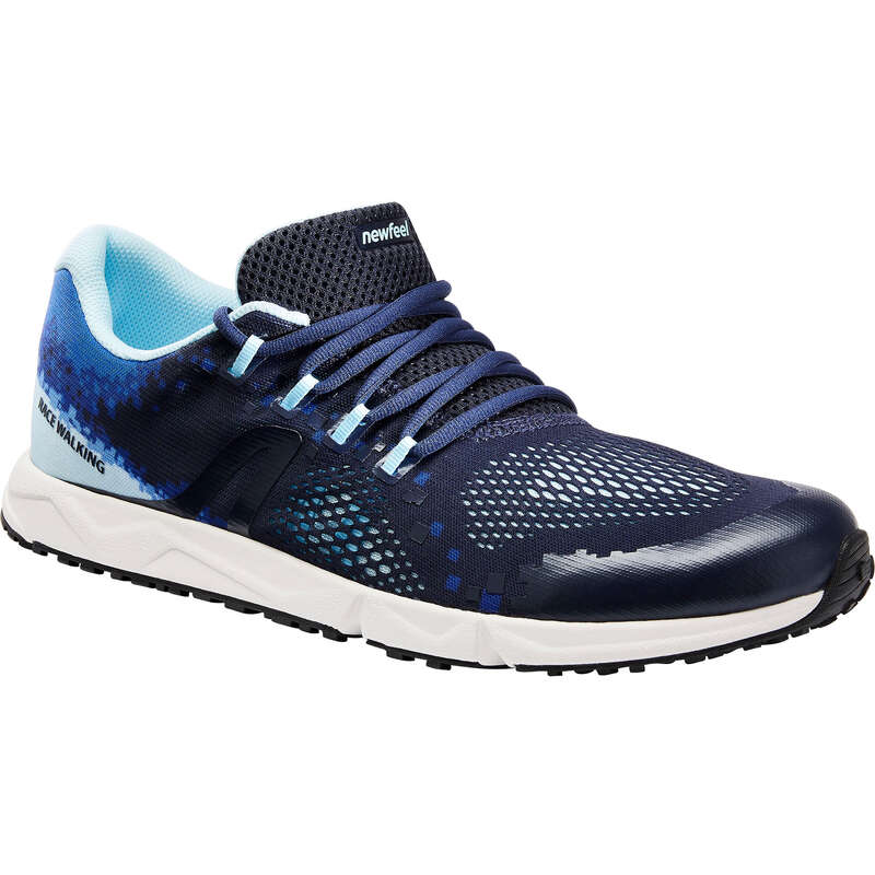 RACE WALKING SHOES Hiking - RW 500 blue NEWFEEL - Outdoor Shoes