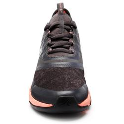 Damessneakers voor sportief wandelen PW 580 WaterResist grijs/koraalrood