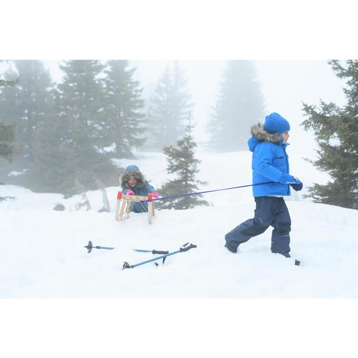 Pantalon chaud de randonnée neige enfant SH500 u-warm garçon 2-6 ans bleu