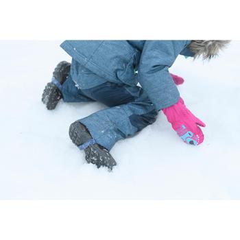 Warme waterdichte wandeljas voor meisjes SH500 U-Warm 2-6 jaar grijs