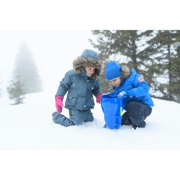 Chaqueta cálida de senderismo nieve SH500 U-WARM niña 2-6 años gris