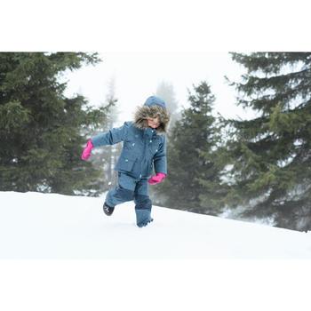 Pantalón cálido de senderismo nieve júnior SH500 u-warm niña 2-6 años azul