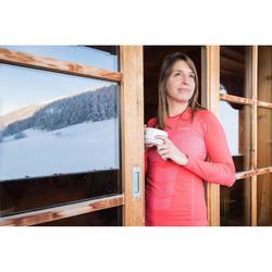 Haut de sous-vêtement technique de ski de fond rose - XC S UW 900 femme