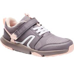 Kindersneakers voor wandelen Viale grijs/roze