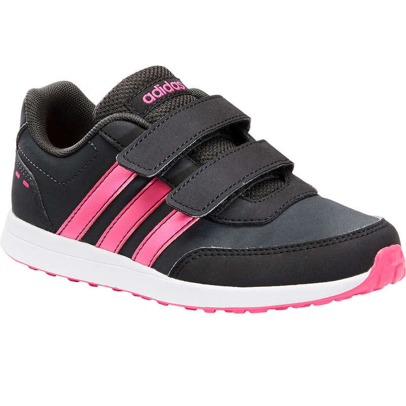 JUNIOR SPORT WALKING SHOES - Adidas Switch Velcro - Gry/Pnk ADIDAS