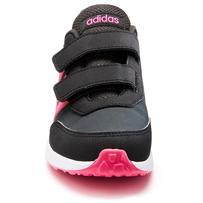 Wandelsneakers voor kinderen Switch klittenband grijs/roze