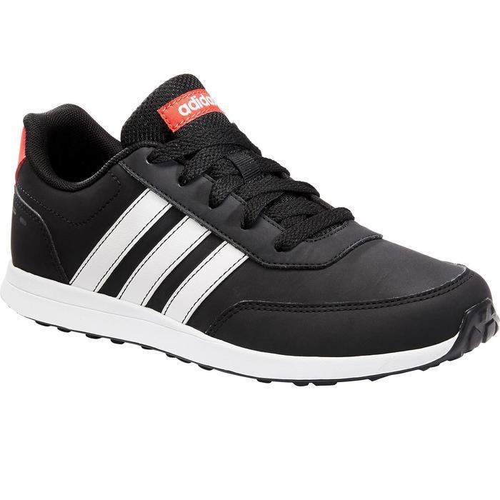 Sportschuhe Schnürsenkel Switch Kinder schwarz/weiß