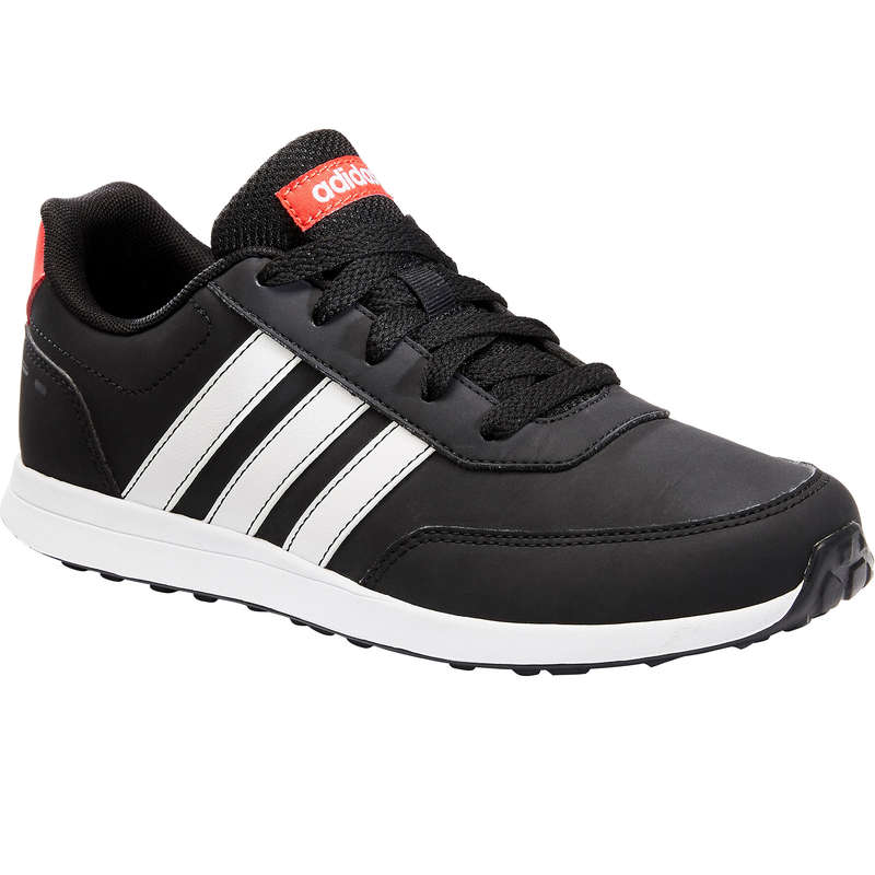 JUNIOR SPORT WALKING SHOES - Adidas Switch Laces - Blk/Wht ADIDAS