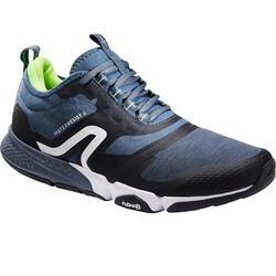 MEN'S FITNESS WALKING SHOES PW 580 WATERRESIST - BLUE