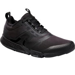 MEN'S FITNESS WALKING SHOES PW 580 WATERRESIST - BLACK