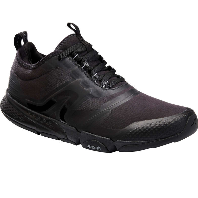 MEN SPORT WALKING SHOES Hiking - PW 580 WATERRESIST BLACK NEWFEEL - Outdoor Shoes