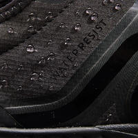 MEN'S FITNESS WALKING SHOES PW 580 WATERRESIST - BLACK