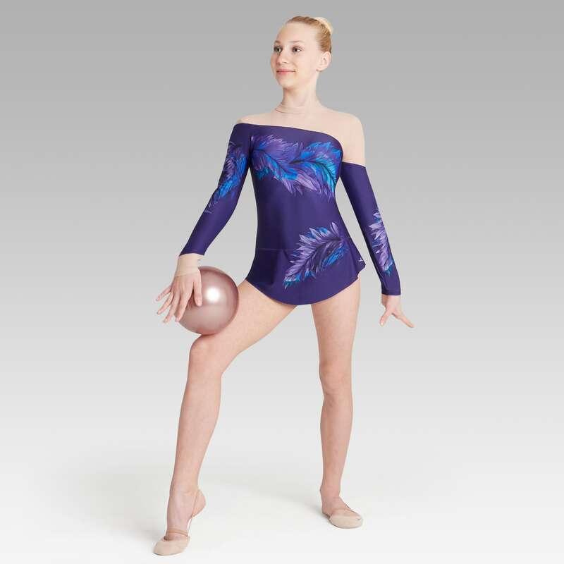 RYTSMISK GYMNASTIK Gymnastik - Gymnastikdräkt med kjol DOMYOS - SPORTER