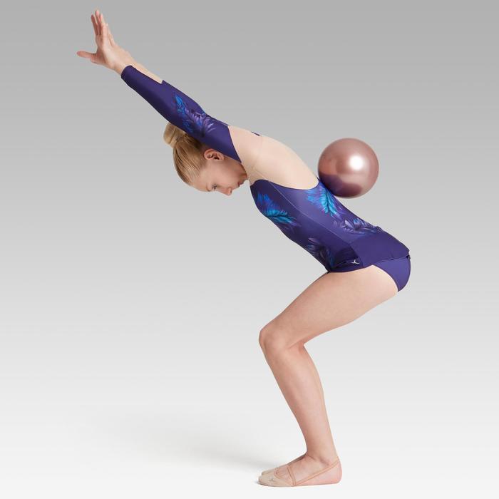 Justaucorps jupette à manches longues de Gymnastique Rythmique Violet