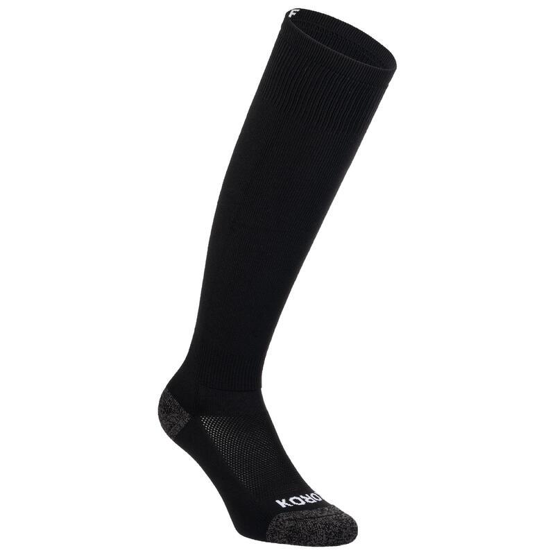 Chaussettes de hockey sur gazon adulte FH500 noir