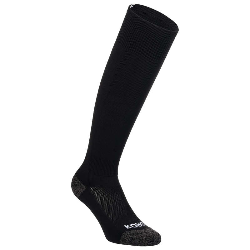 APPAREL FIELDHOCKEY Sport di squadra - Calze hockey adulto FH500 nere KOROK - Hockey su prato