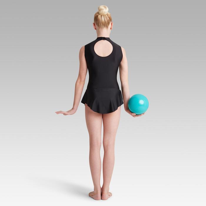 Afneembaar rokje voor ritmische gymnastiek (RG) zwart met strass
