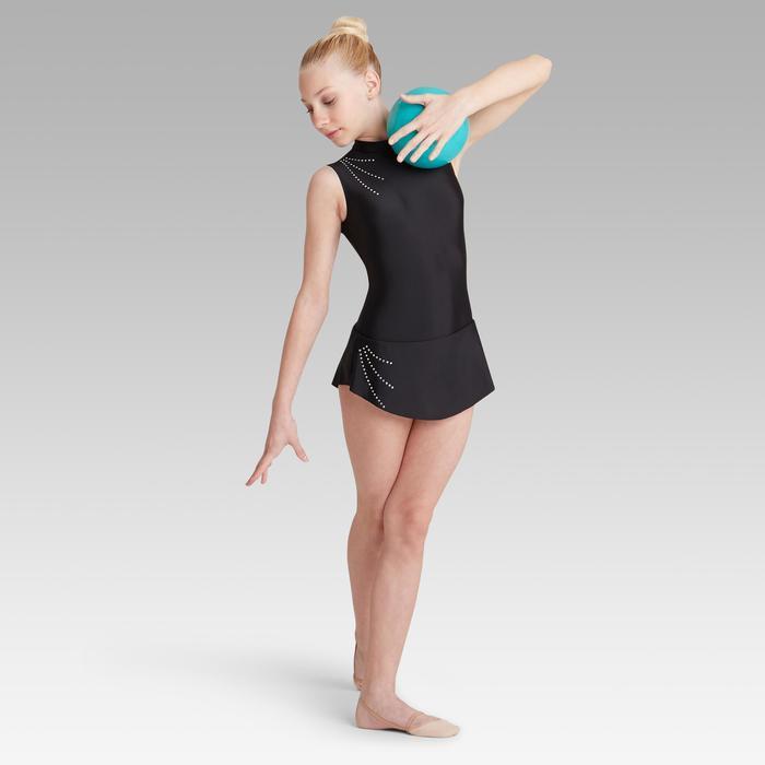 Jupette amovible de Gymnastique Rythmique Noire Strassée