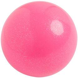 Bal voor ritmische gymnastiek 165 mm roze met glitters