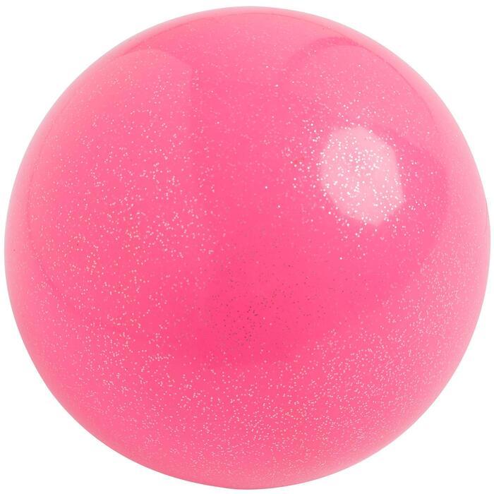 Pelota de Gimnasia Rítmica de 165 mm rosa con brillo