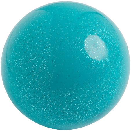 Ballon de gymnastique rythmique de 165mm émeraude pailleté