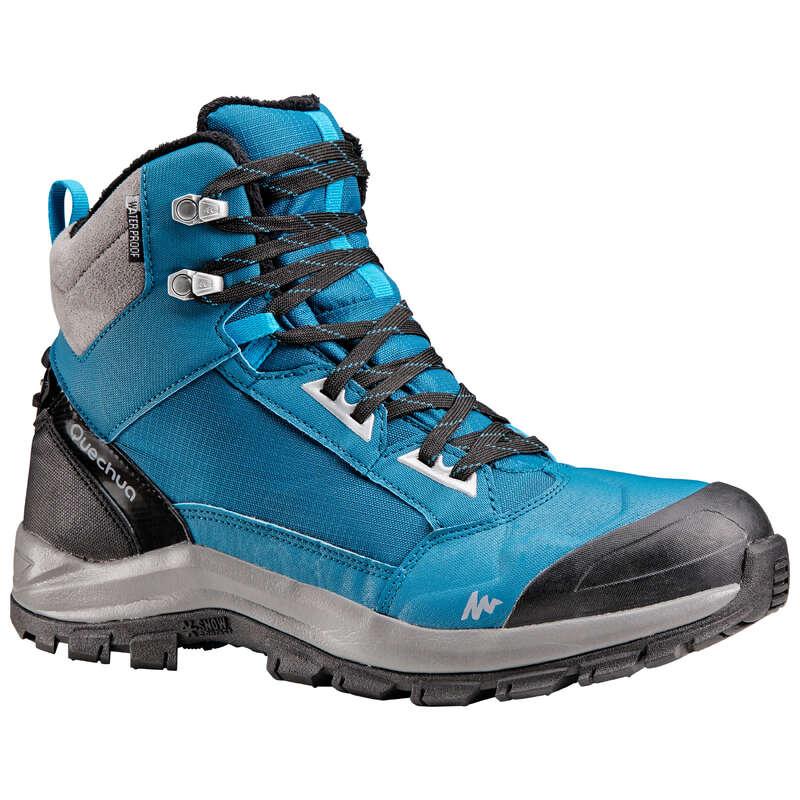 MEN SNOW HIKING WARM SHOES & GRIPS Hiking - M X-WARM MID SHOES SH520 - BLU QUECHUA - Outdoor Shoes