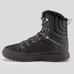 Bottes de randonnée neige homme SH100 chaude haute noires.