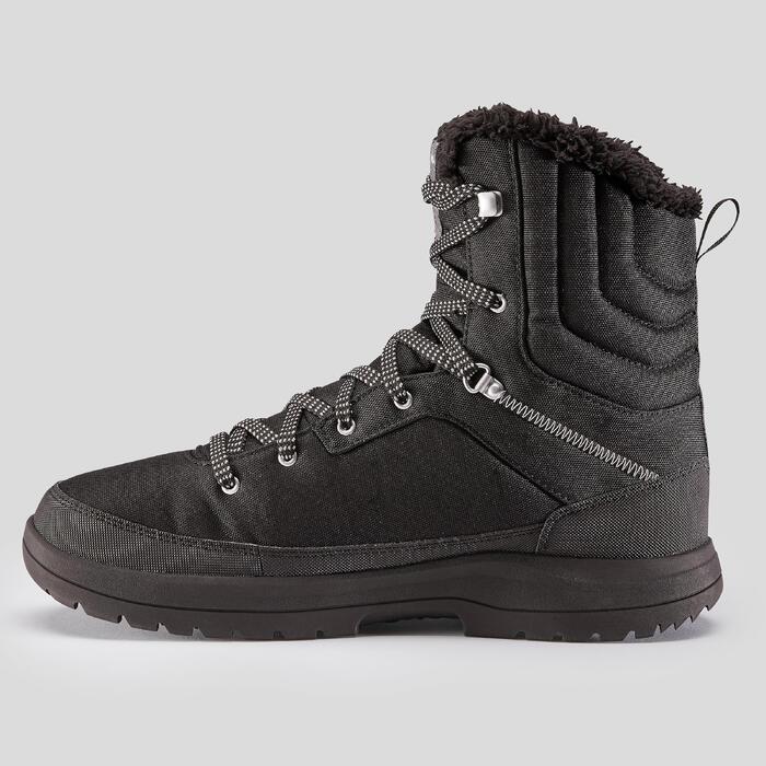 Chaussures de randonnée neige homme SH100 warm high noires.