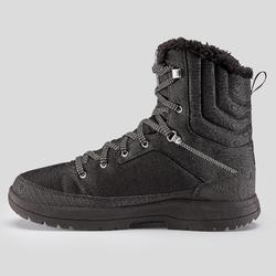 男款極致保暖防水雪地健行高筒鞋SH100