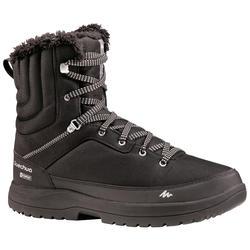 男款保暖雪地健行高筒靴SH100-黑色