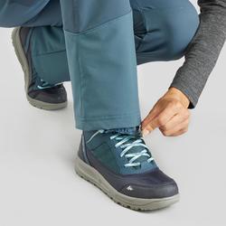 Warme wandelbroek dames SH520 X-warm blauwgrijs
