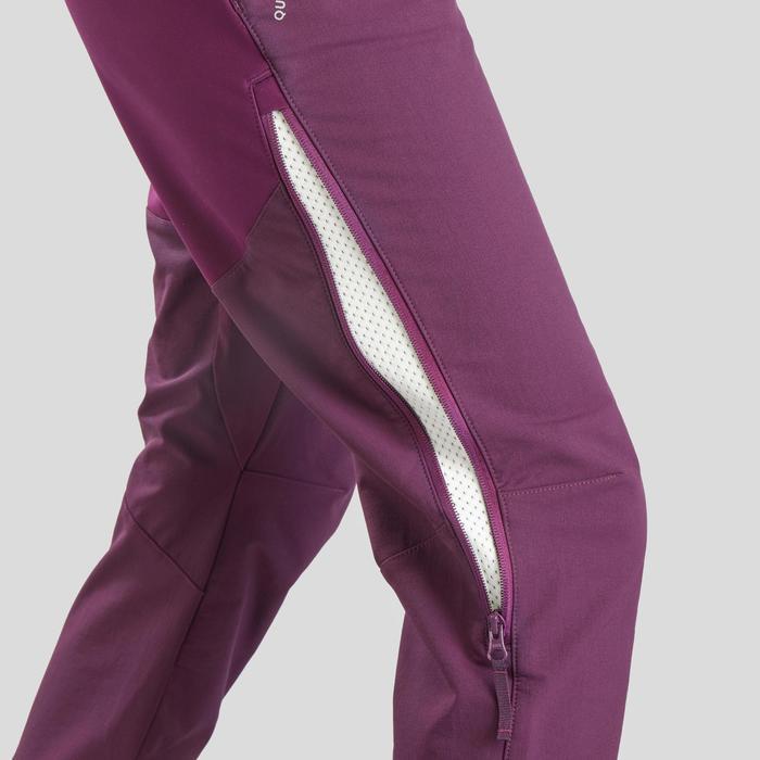 Warme wandelbroek dames SH520 X-Warm paars