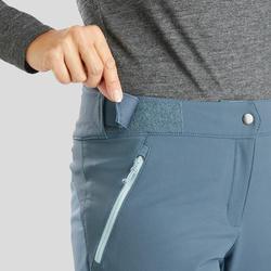 Women's Snow Hiking Pants SH520 X-Warm - Grey-Blue
