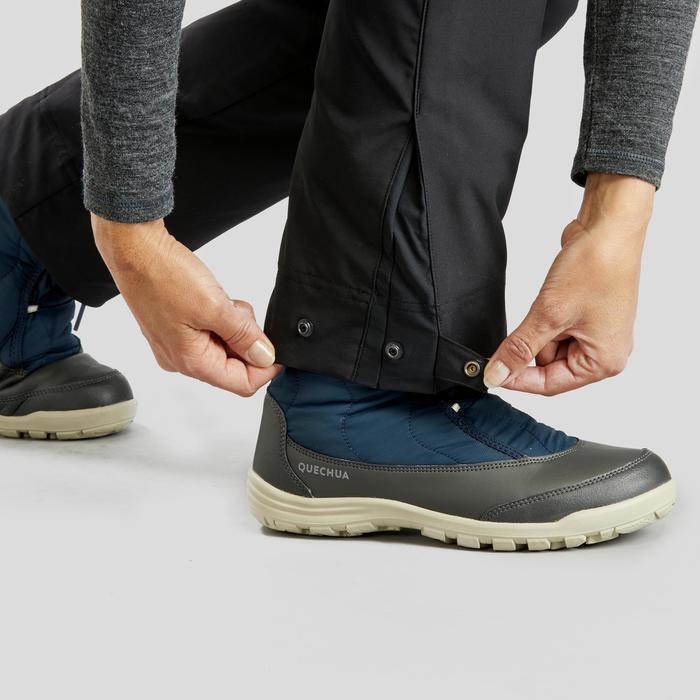 Pantalon de randonnée neige femme SH500 x-warm gris-foncé