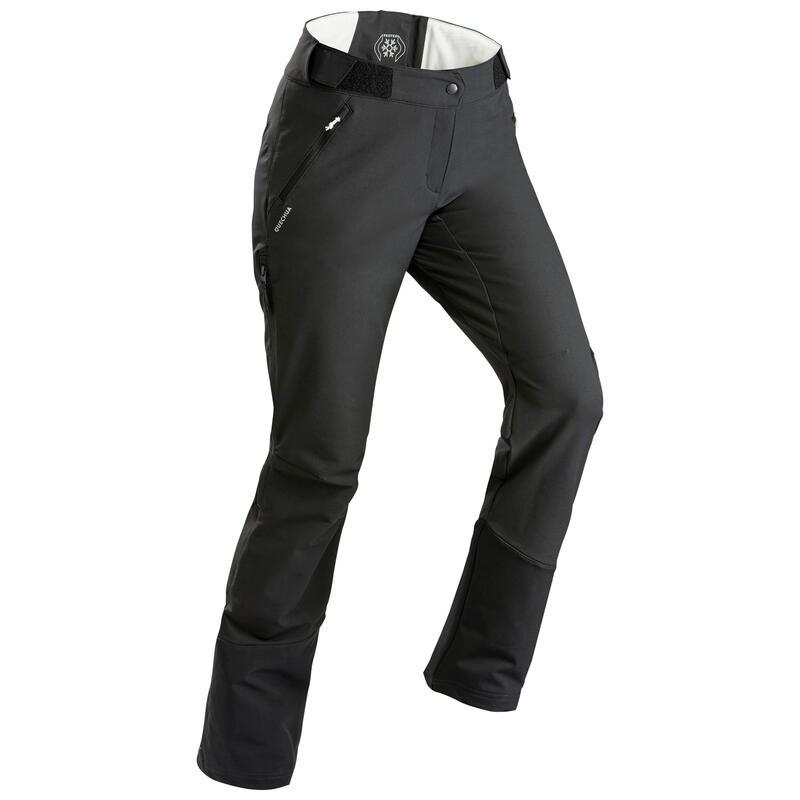 Waterafstotende, warme broek voor sneeuwwandelen gaiters Dames SH520 X-WARM