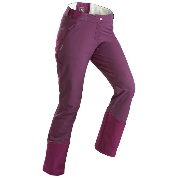 Pantalon chaud de randonnée femme SH520 x-warm violet