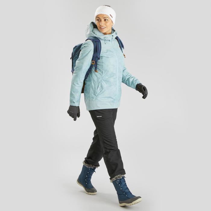 女款超保暖雪地健行外套SH100-冰雪款