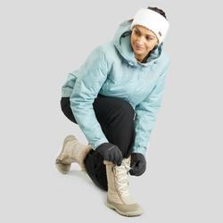 Botas de senderismo nieve mujer SH500 x-warm cordones beige