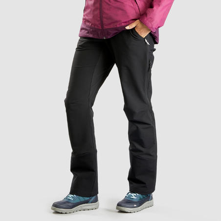 Pantalon de randonnée déperlant avec guêtresSH520 X-Warm – Femmes