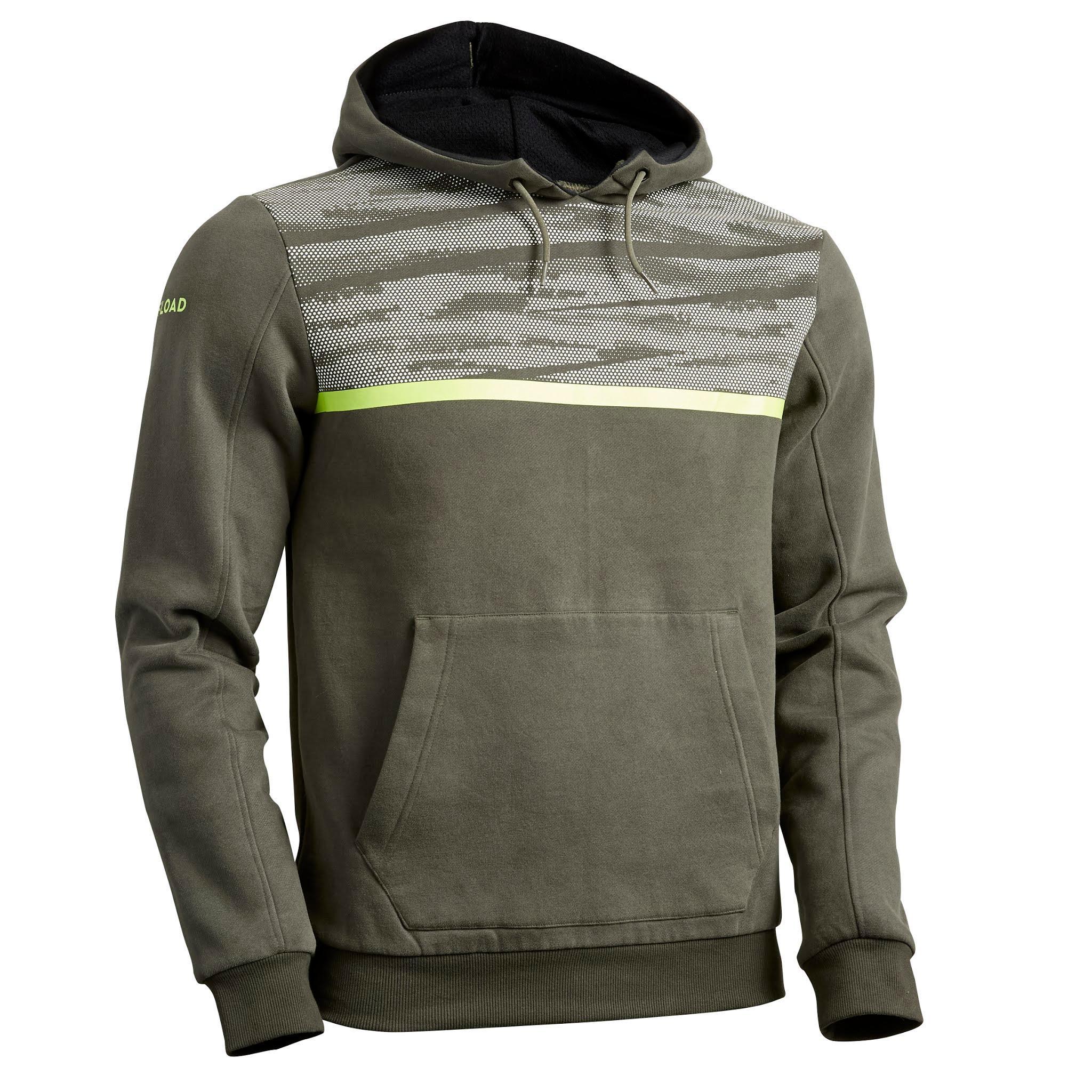 Sweat à capuche hoodie de rugby r100 homme kaki offload